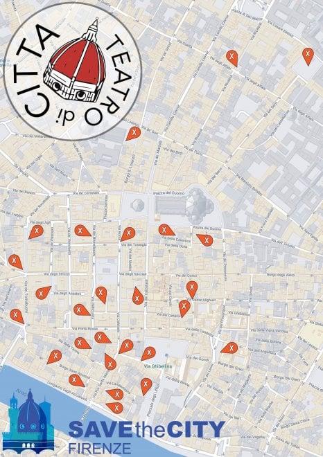 Firenze Cartina Centro Storico.Teatro Di Citta A Firenze La Mappa Dei Luoghi La Repubblica