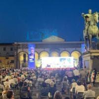 """Viva Giani, """"l'usato sicuro"""": Paolo Hendel sul palco col candidato di centrosinistra con..."""
