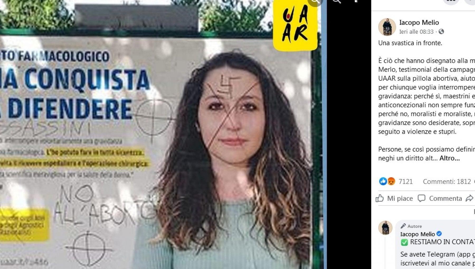 """113717218 73177258 3efb 4e66 9a04 f9c597dedec8 - Iacopo Melio contro gli anti abortisti che disegnano svastiche: """"Assassini siete voi"""""""