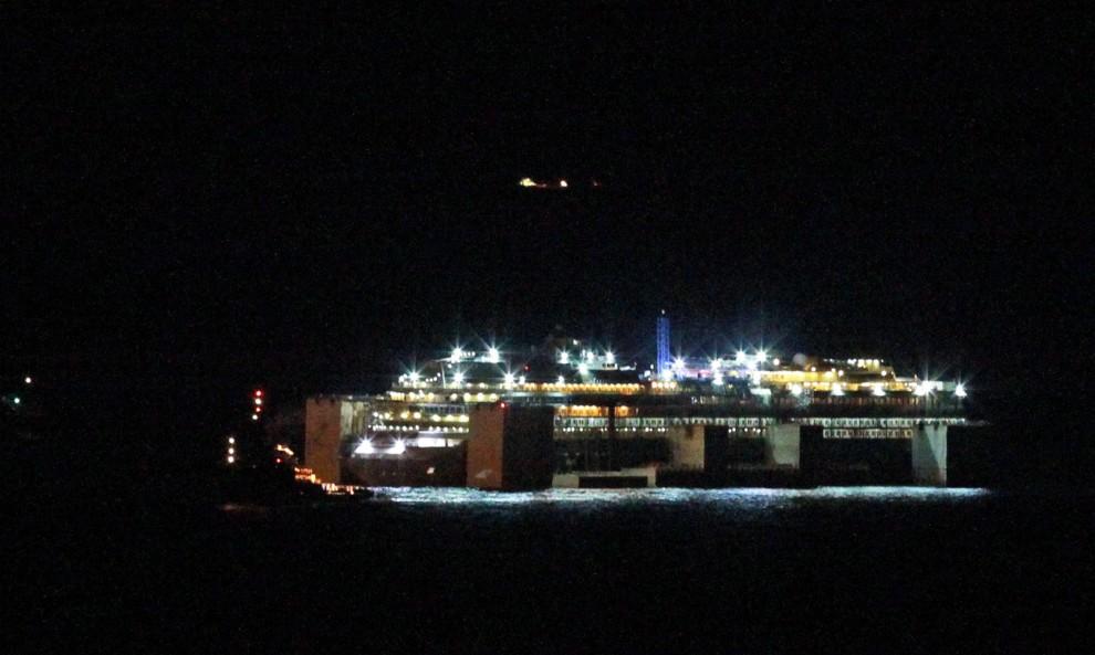 La Concordia a Genova: il fotoracconto