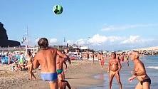 I 'palleggiatori  da spiaggia' -  videosfida