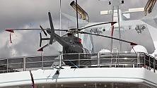 Yacht più minielicottero   92 mila euro al giorno