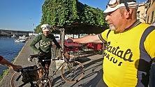 Nervi-Portofino, che sfida con le bici dei nonni  Ft