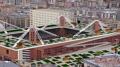 Un parco sul tetto dello stadio Ridisegniamo insieme la Val Bisagno   foto
