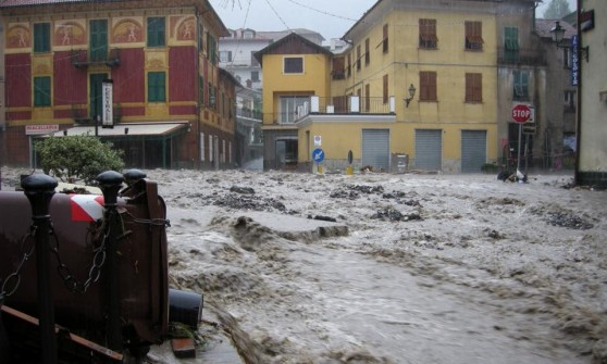Montoggio assediato dall'acqua, la grande paura della Valle Scrivia