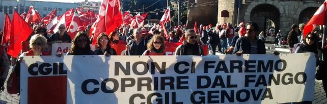 Quattromila genovesi a Roma con la Cgil ma la minoranza Pd rimane a casa   foto