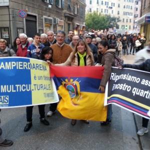 In corteo per una 'nuova' Sampierdarena, genovesi e immigrati