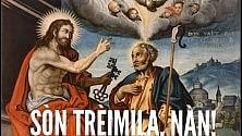 """""""Bèllo Segnù"""" , l'ironia """"zeneize"""" sui vecchi santini fa boom"""
