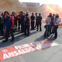 Ansaldo Energia, corteo e blocco stradale a Campi