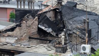Incendio a Dinegro, restano sfollate  le diciotto famiglie