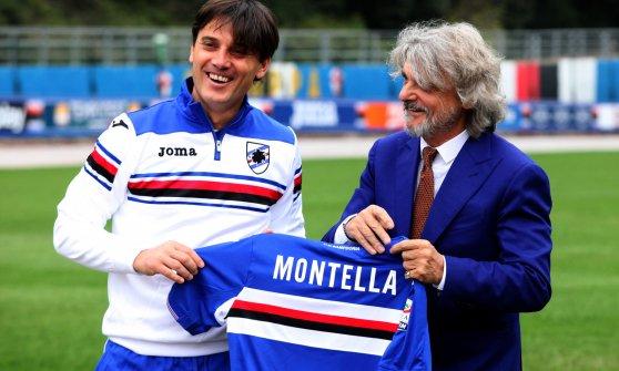 Photo of Vincenzo Montella & his friend celebrity  Massimo Ferrero -