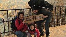 Papà, mamma e figlia,  sei mesi in viaggio con un euro al giorno