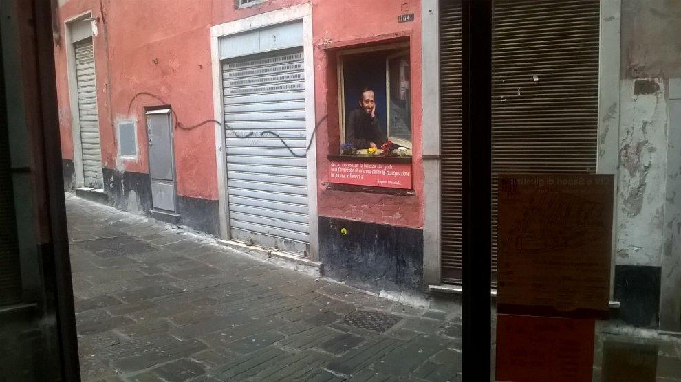 Vico Rosa, un dipinto ricorda Peppino Impastato