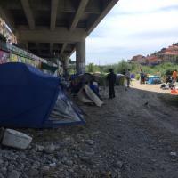Ventimiglia, i migranti accampati in attesa dello sgombero