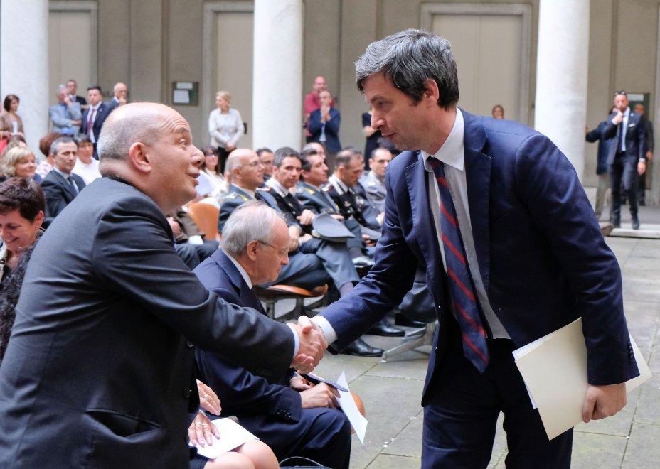 Il ministro Orlando a Genova commemora Coco e la scorta