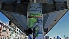 Sopraelevata d'arte, ecco il lavoro di Carrasco sul pilone numero 83   Foto     Il primo giorno   Vd