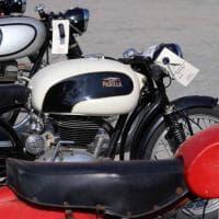 Le moto Parilla al Porto Antico