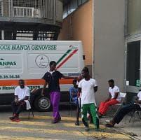 Hotel Padiglione C,la terza estate dei profughi in Fiera