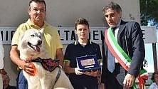 Camogli, il cane Blanka ha salvato il bambino malato di diabete