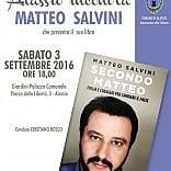 Alassio, Salvini è cultura: patrocinio del Comune