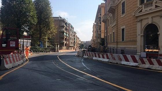 Genova, tolto l'assedio dei cantieri da via Monte Zovetto
