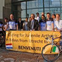 Gaslini, in bici dall'Olanda per la ricerca sulla reumatologia