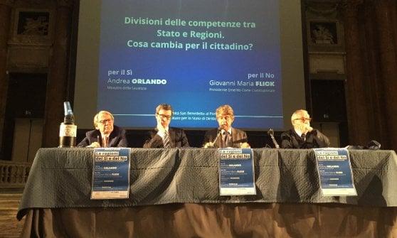 Genova, dibattito sul referendum tra Orlando e Flick