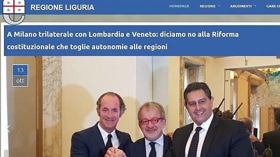 """Il Corecom a Toti: """"Spieghi l'utilizzo del sito istituzionale per il referendum"""""""