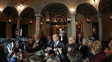 """Alfano a Genova per il sì al referendum:  """"Se vince il no l'Italia si ferma""""   Foto,     Video"""
