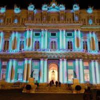 Genova, la facciata del Ducale diventa una tela di colori e luci