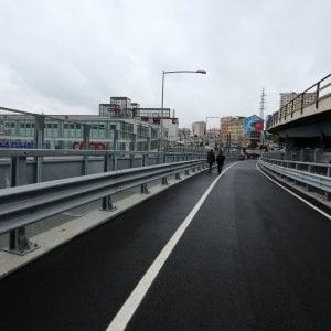 Genova, parte il parcheggio di interscambio, aperta la nuova rampa della Sopraelevata