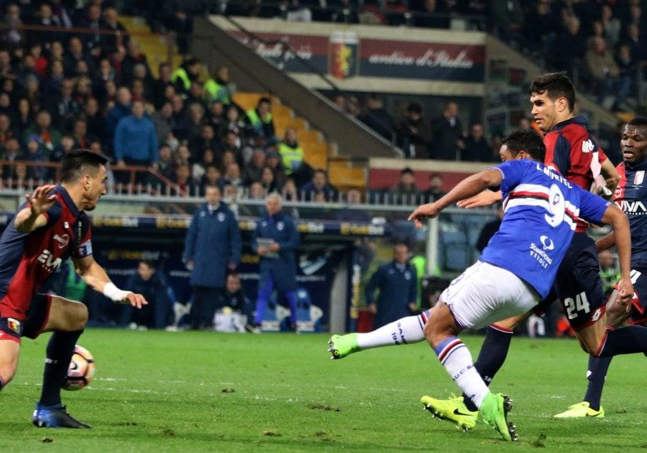 Genoa-Sampdoria, il gol di Muriel