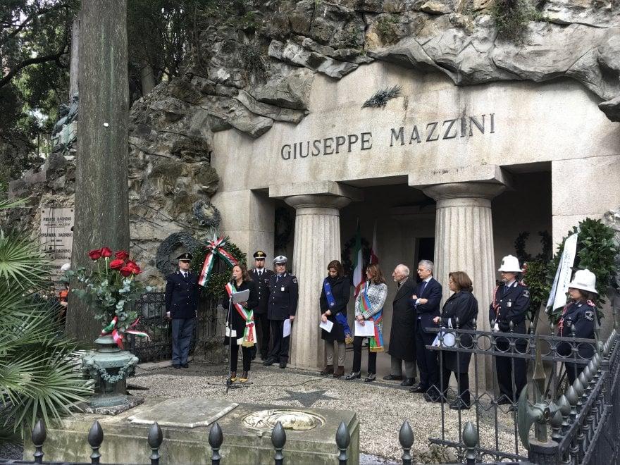 Giornata mazziniana, la cerimonia a Staglieno