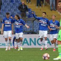 Sampdoria-Crotone, le foto del primo tempo
