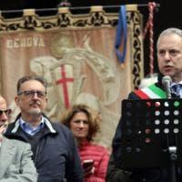 Manifestazione del 25 aprile, ovazione a Doria