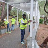 I giardini Lamboglia rimessi a nuovo grazie ai migranti