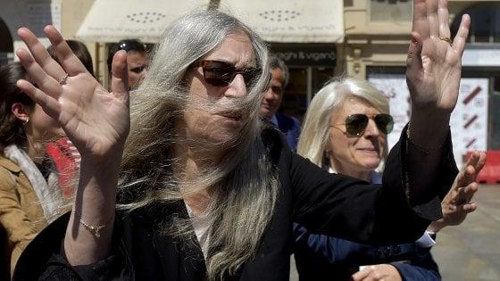 """Sanremo, Patti Smith a """"Complice la musica"""" , omaggio a Fernanda Pivano"""