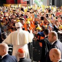 """Il Papa all'Ilva: """"Il buon imprenditore è prima di tutto un lavoratore, non è uno..."""