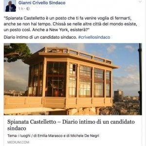 Il diario di Crivello su facebook