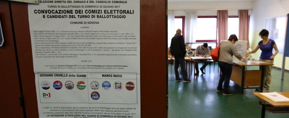 Genova al ballottaggio, exit poll: centrodestra in vantaggio, verso una storica vittoria