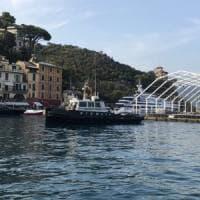 Portofino in festa per l'arrivo della Ferrari