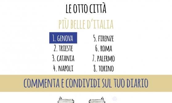 """Concorso su Facebook: """"Genova città più bella d'Italia"""""""