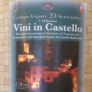 """A Campo Ligure ci sono i """"vini in castello"""""""