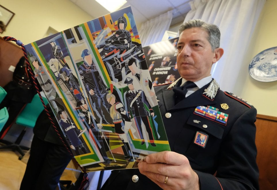 Il calendario dei carabinieri presentato anche al comando di Genova