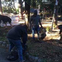 Multedo, migranti e cittadini insieme a pulire i giardini