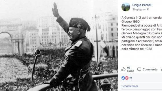 Genova, il portavoce di Casapound che inneggia a Mussolini ma prendeva lo stipendio dagli ebrei