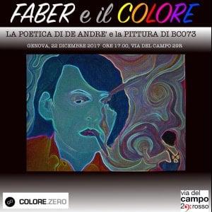 I testi di Faber prendono forma e colore in via del Campo
