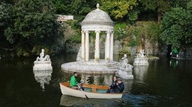 Tornano le barchette  a Villa Pallavicini