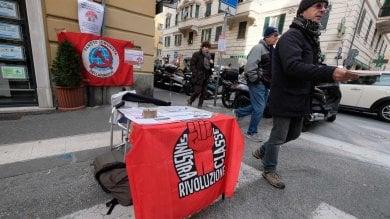 Banchetti neofascisti e dell'estrema sinistra a San Fruttuoso  FOTO