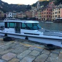 A Portofino Piersilvio Berlusconi con la nuoba barca d'altura